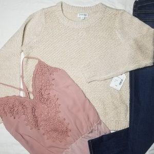 NWT Oatmeal Marl Sweater